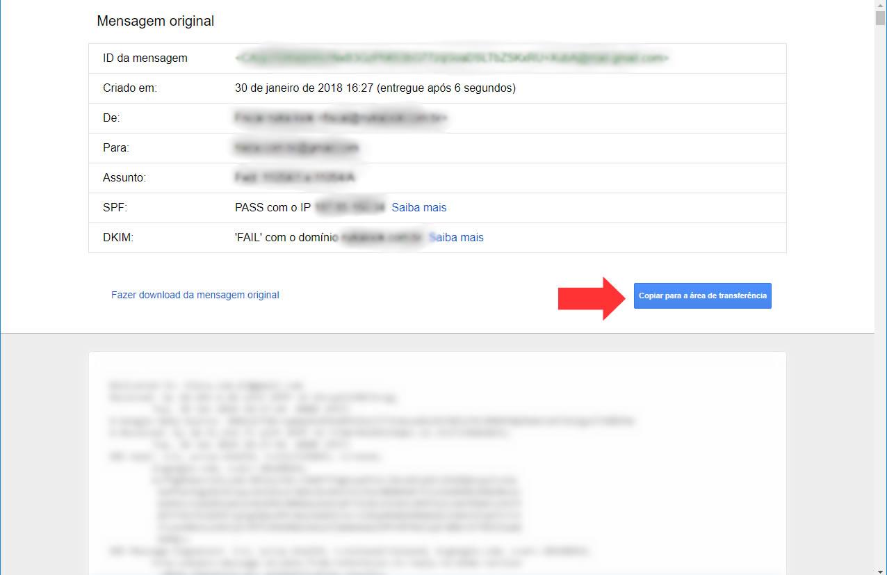 Gmail - Copiar a mensagem original